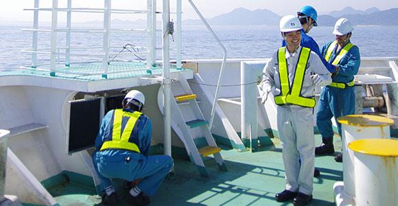 海上職 甲板・機関 業務風景