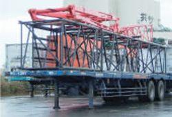 40呎平板台車(部材積載)