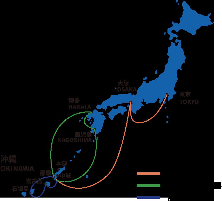 国内航路図